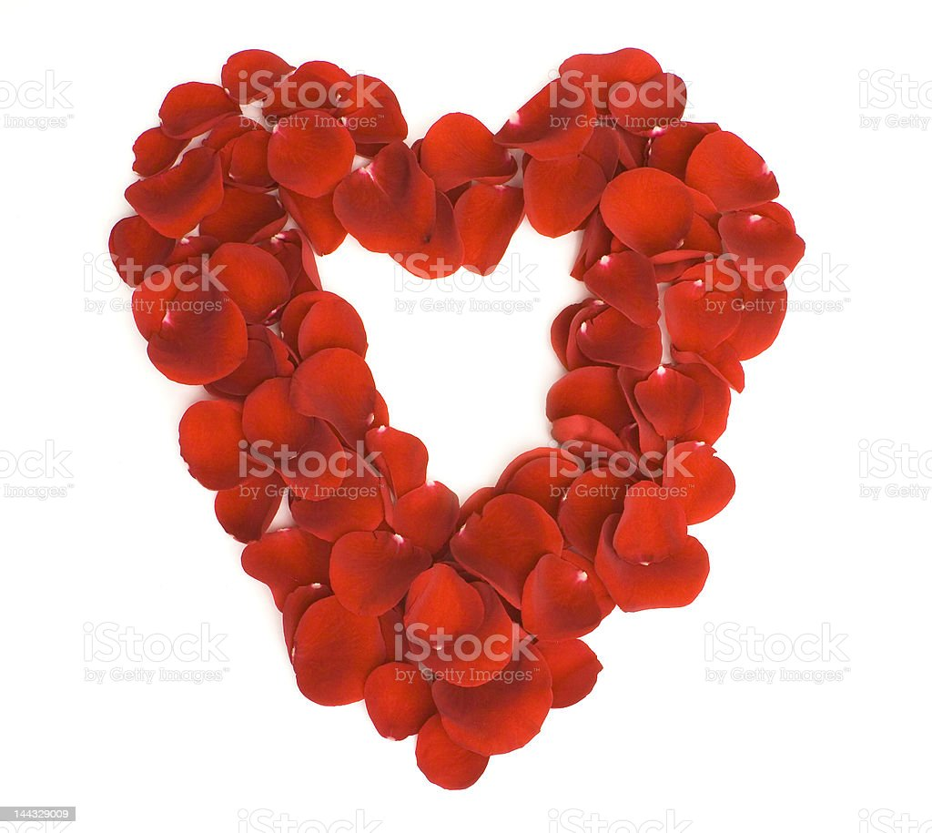Red petals heart royalty-free stock photo