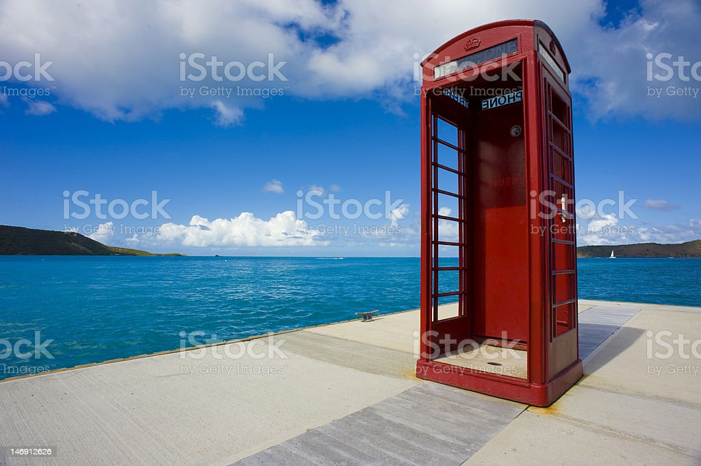 Red Phone Booth royalty-free stock photo