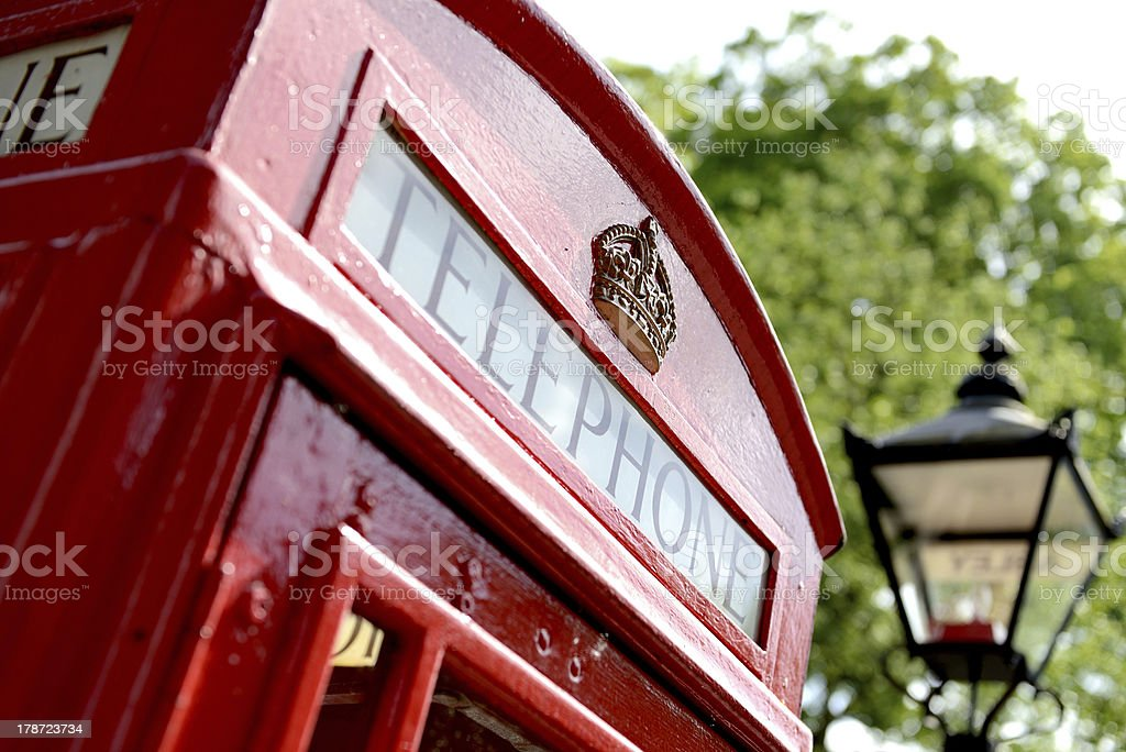 red phone box royalty-free stock photo