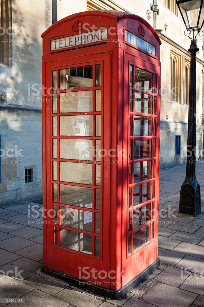 Red phone box stock photo