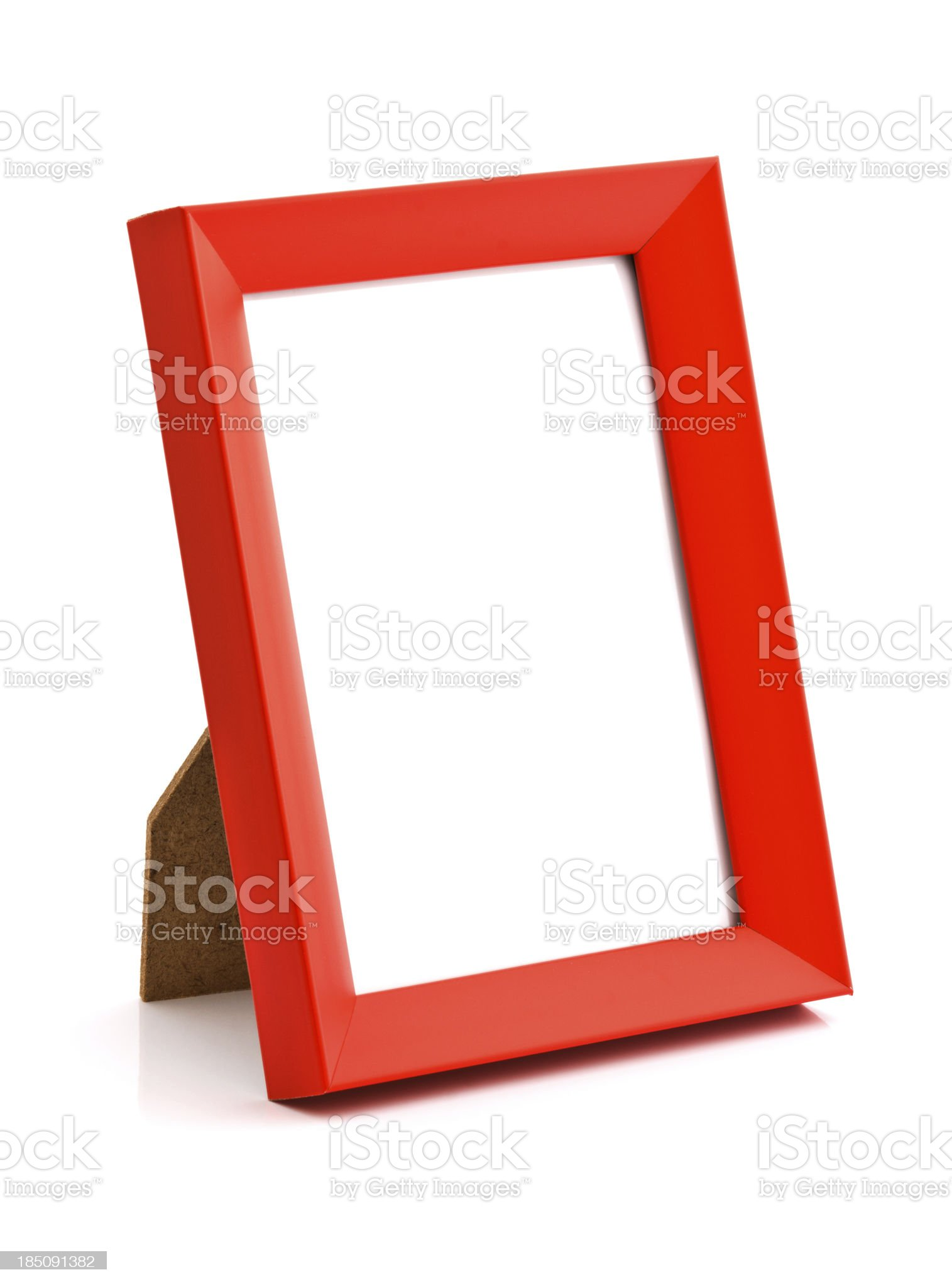 Red photo frame royalty-free stock photo