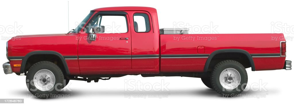 Red Pickup Truck stock photo