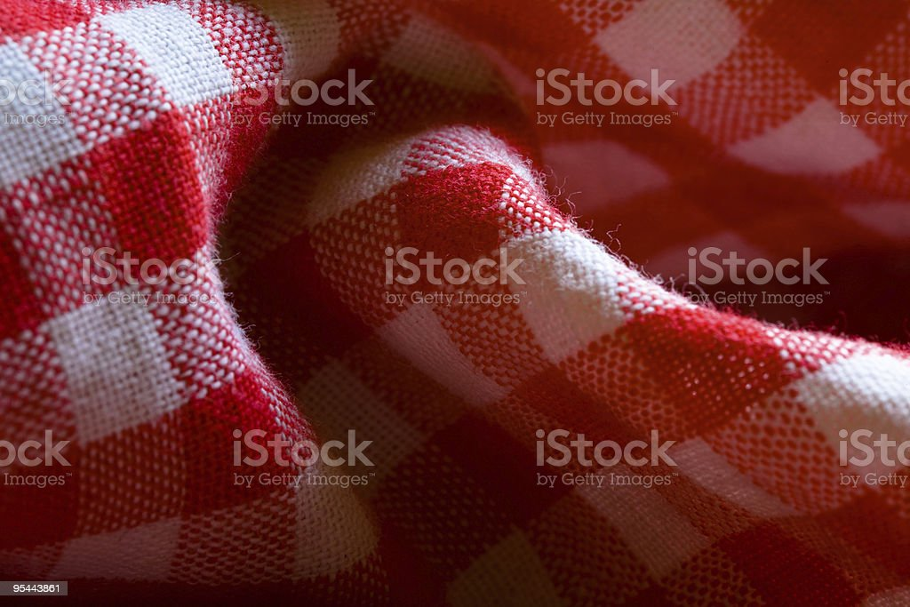 Red picnic cloth pattern detail royalty-free stock photo