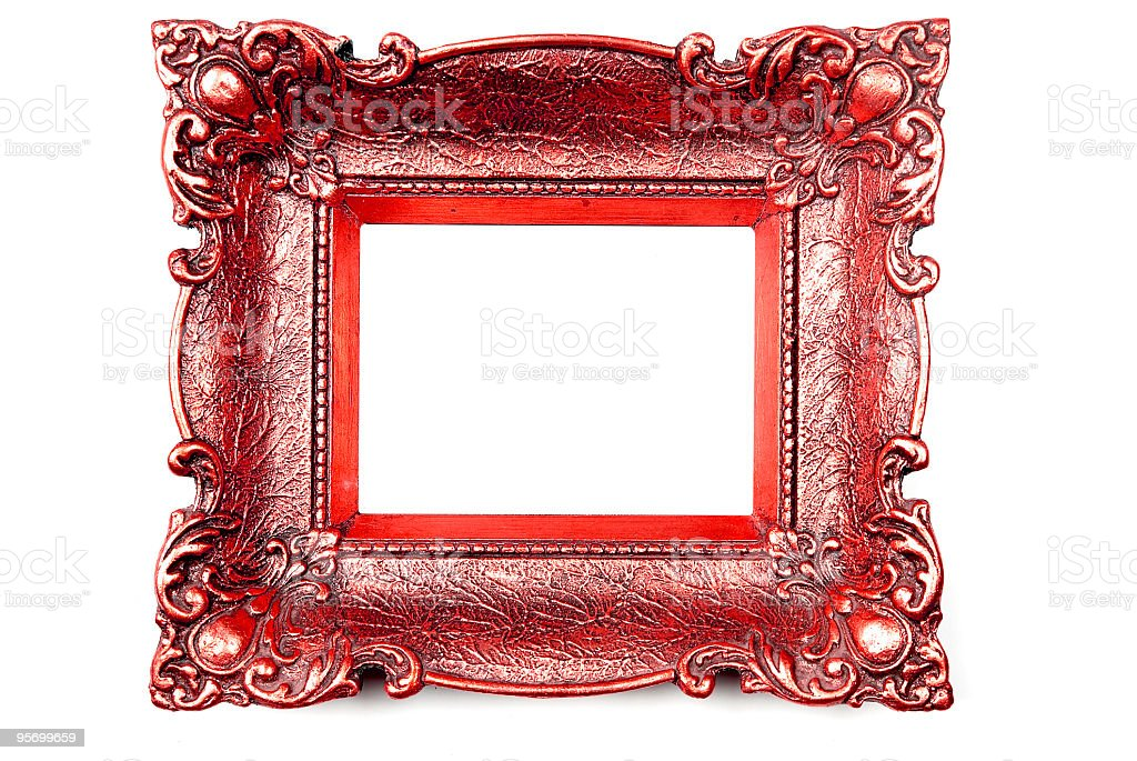 Red Picture Frame stock photo