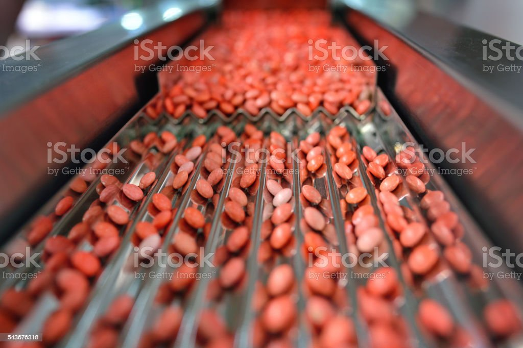 Red Pill Production Line stock photo