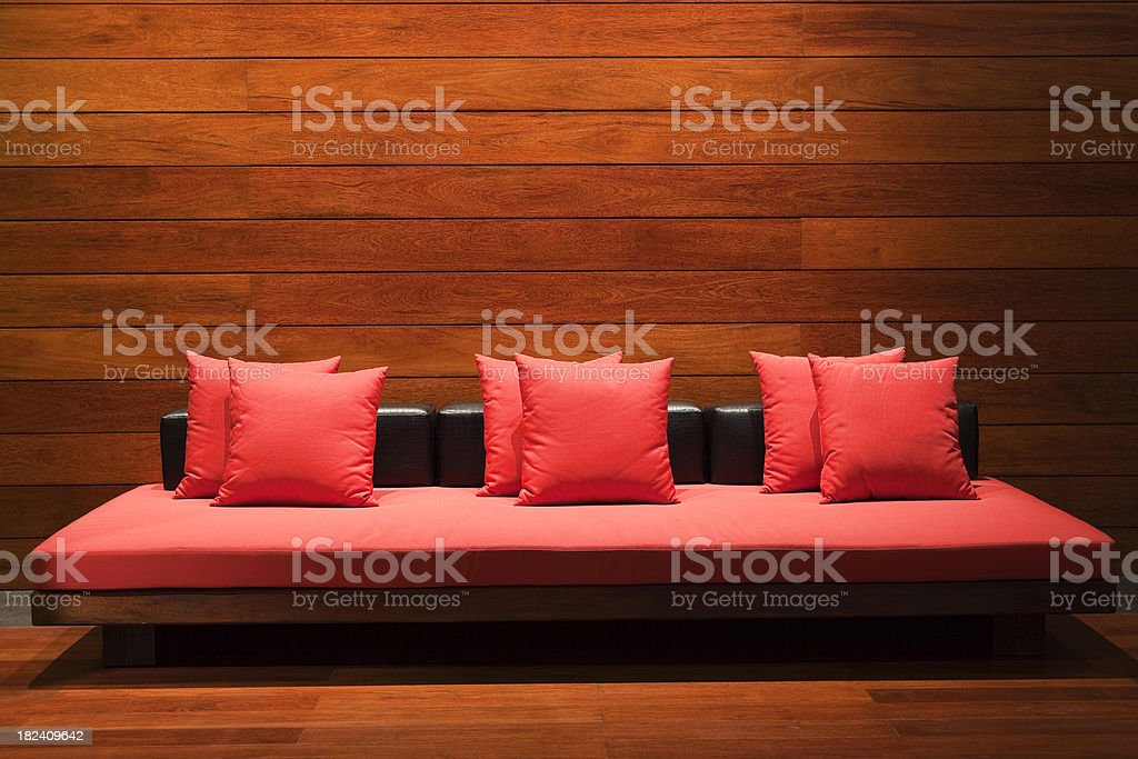 red pillows contemporary hotel lobby furniture royalty-free stock photo