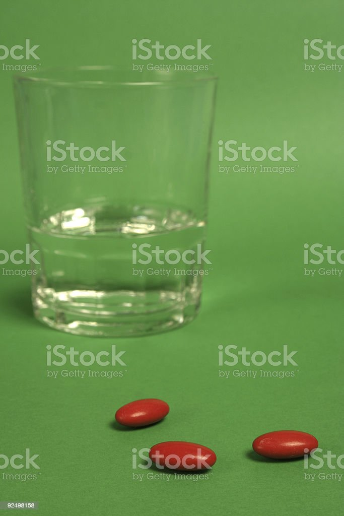 Red pills royalty-free stock photo