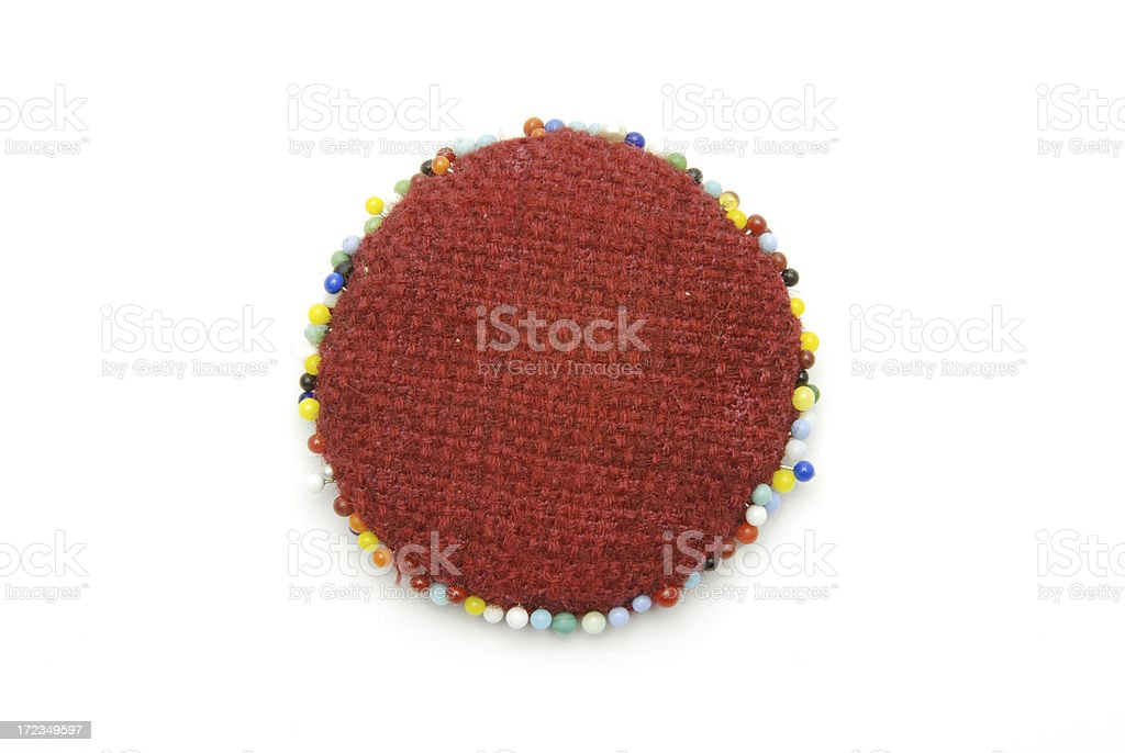 red pin cushion royalty-free stock photo