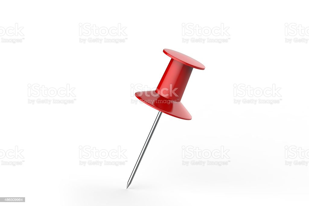 Red Pin stock photo