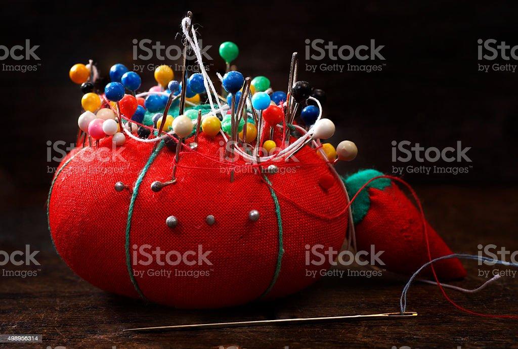 Red Pincushion stock photo