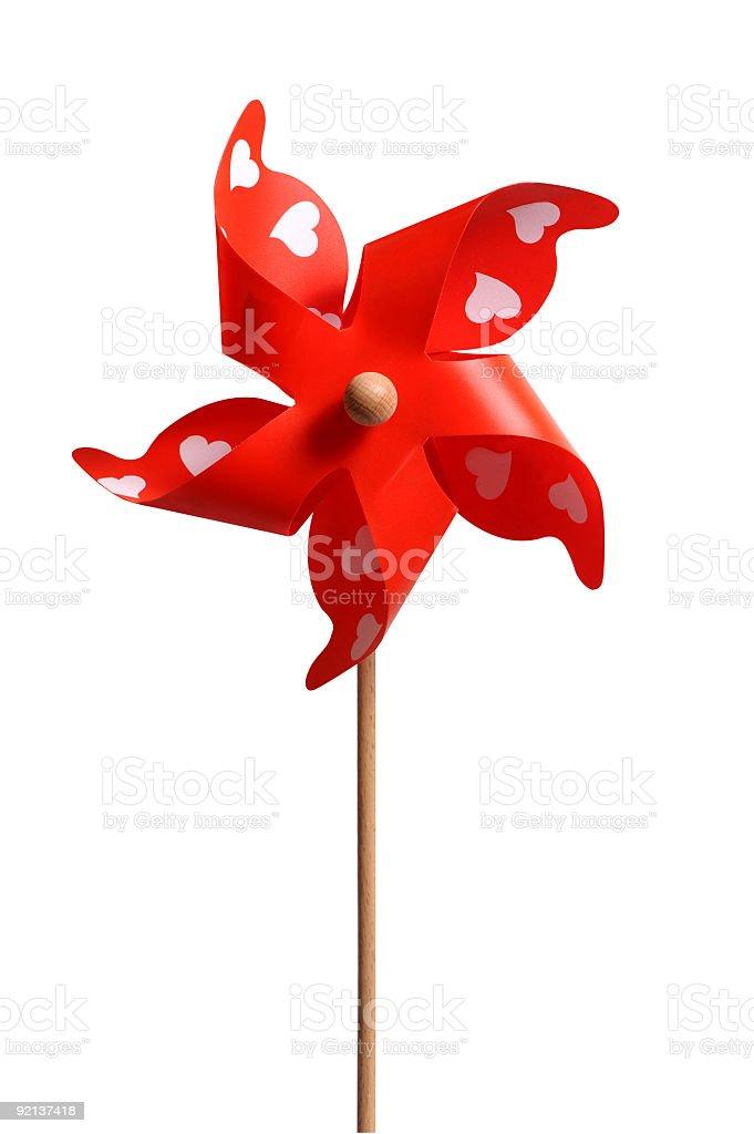 Red Pinwheel stock photo