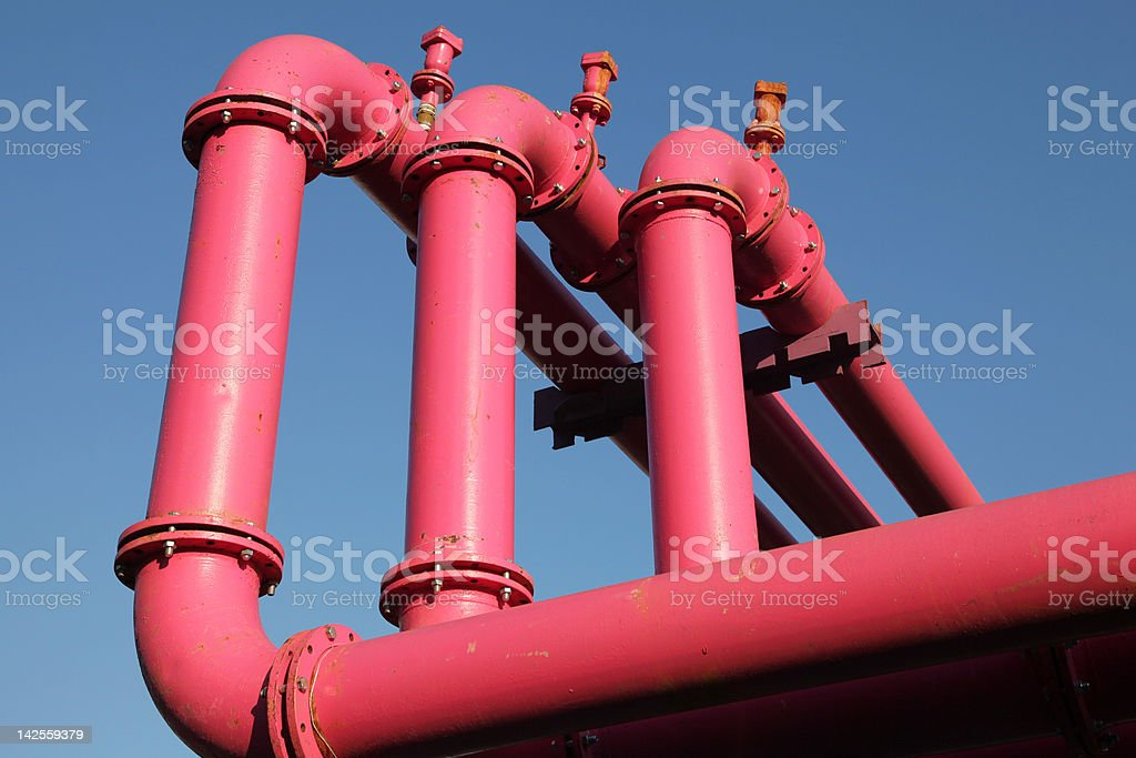 red pipes royalty-free stock photo