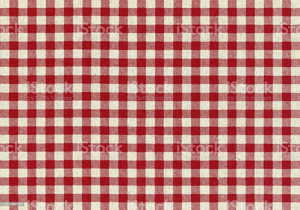 Red Plaid Fabric background textured stock photo