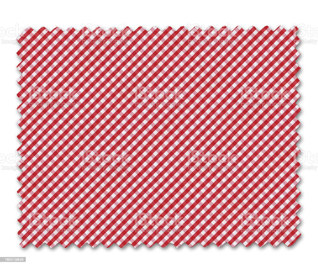 Red Plaid Fabric Swatch royalty-free stock photo