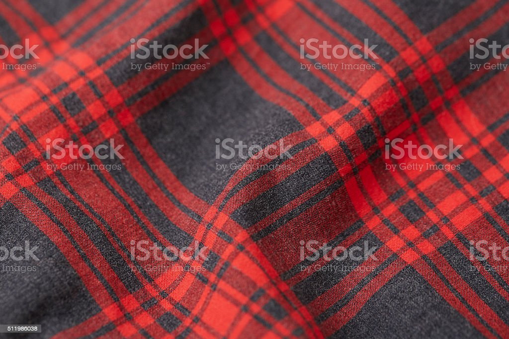 Red plaid stock photo