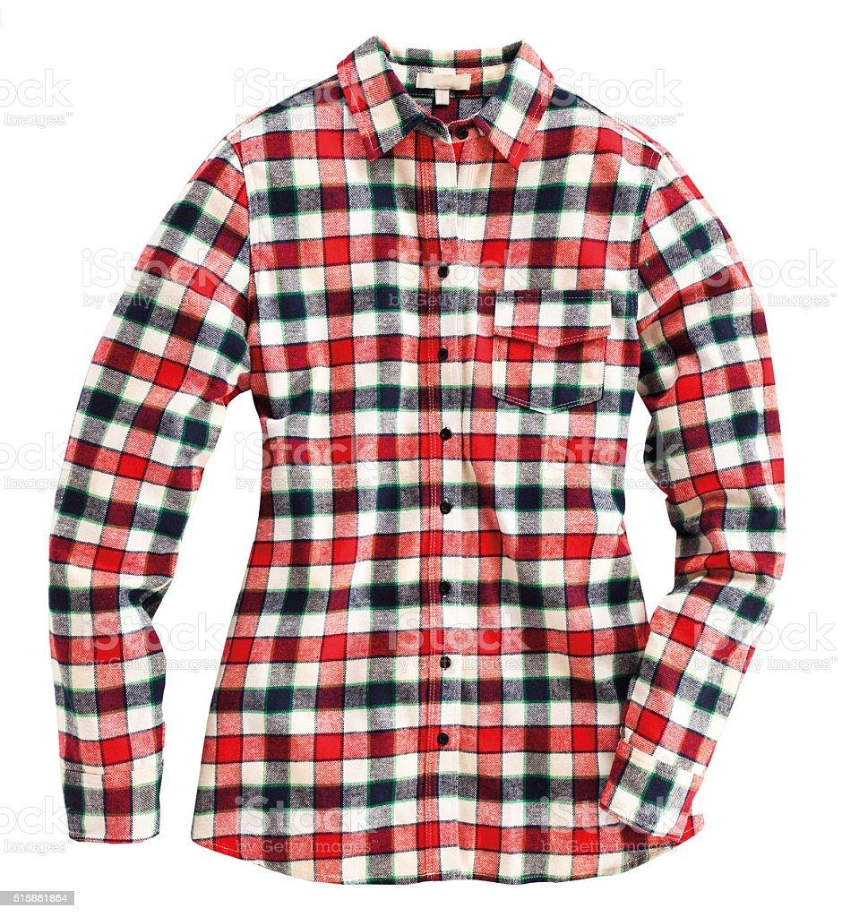 Red plaid shirt stock photo