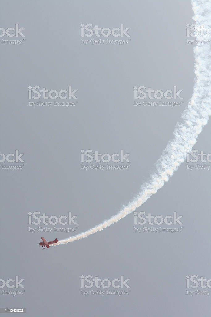 Red plane is up royalty-free stock photo