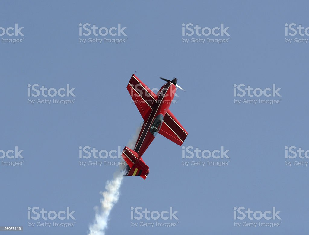 Red Plane royalty-free stock photo
