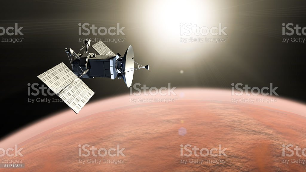 Red planet mission stock photo