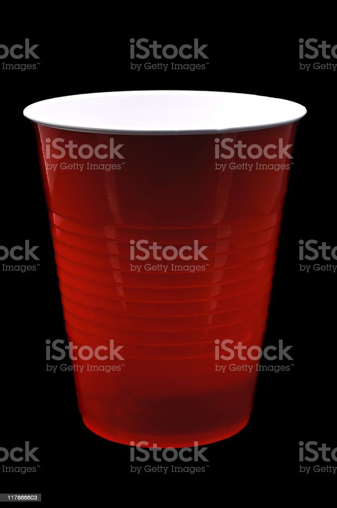 Red Plastic Beer Cup royalty-free stock photo