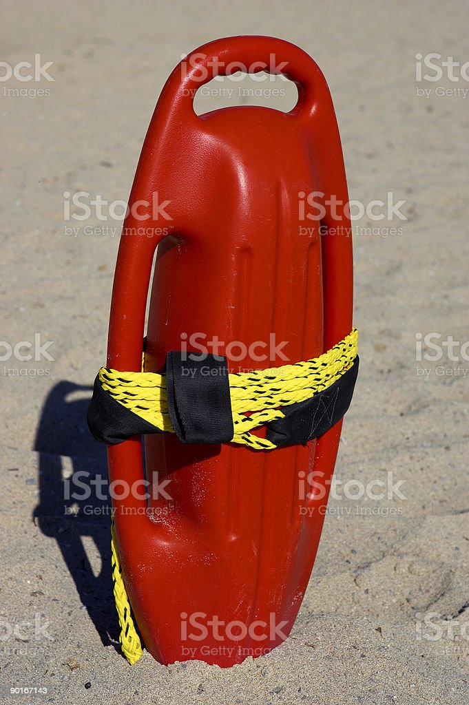 Red plastic buoyancy aid royalty-free stock photo
