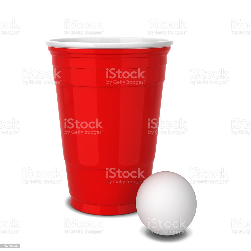 Red plastic cup vector art illustration