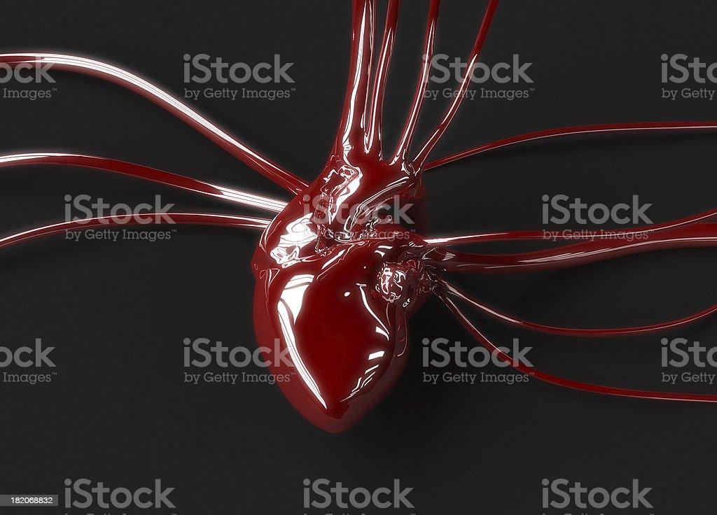 Red plastic heart stock photo