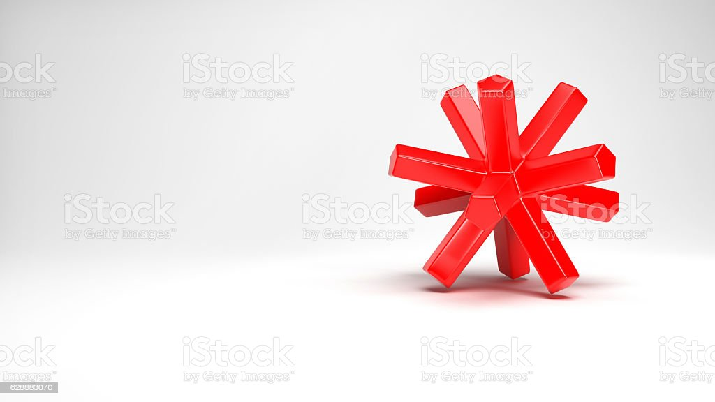 red plastic object stock photo