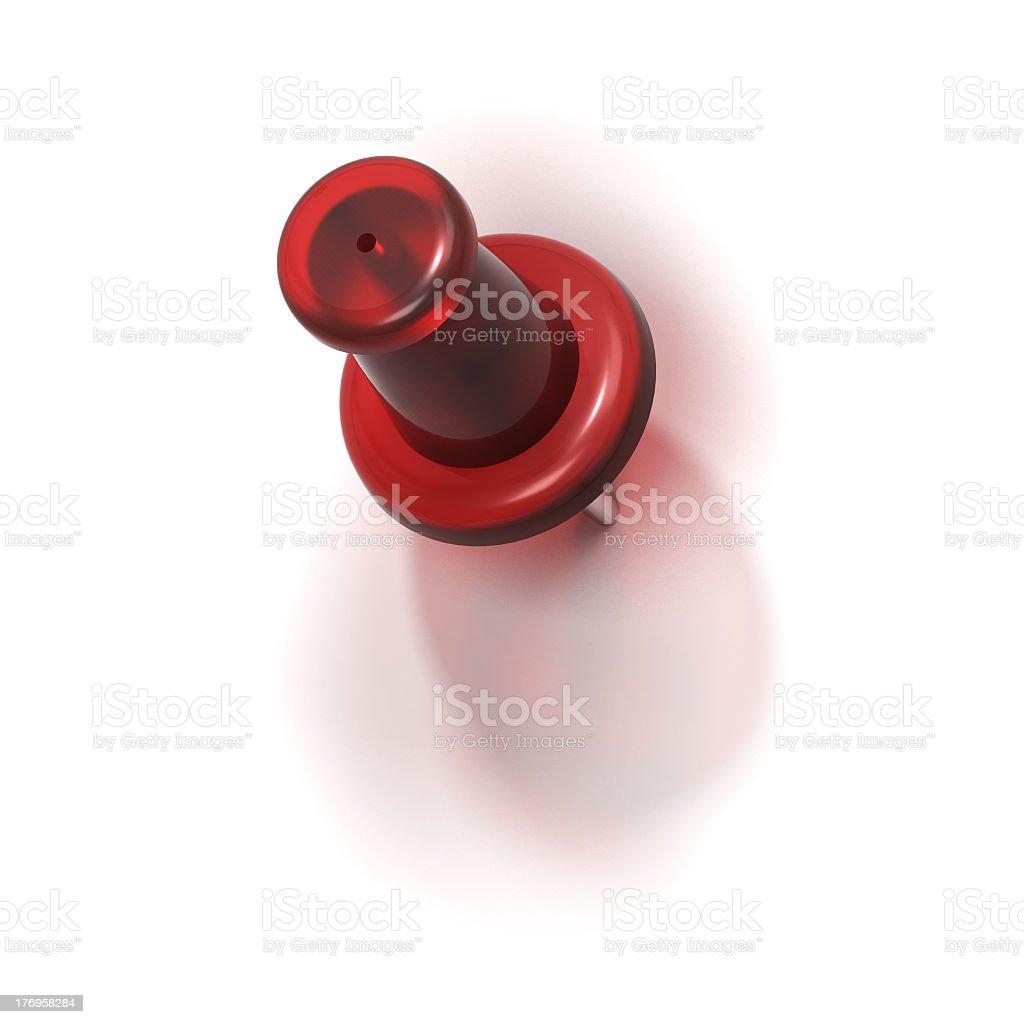 red plastic pushpin or thumbtack - refuse royalty-free stock photo