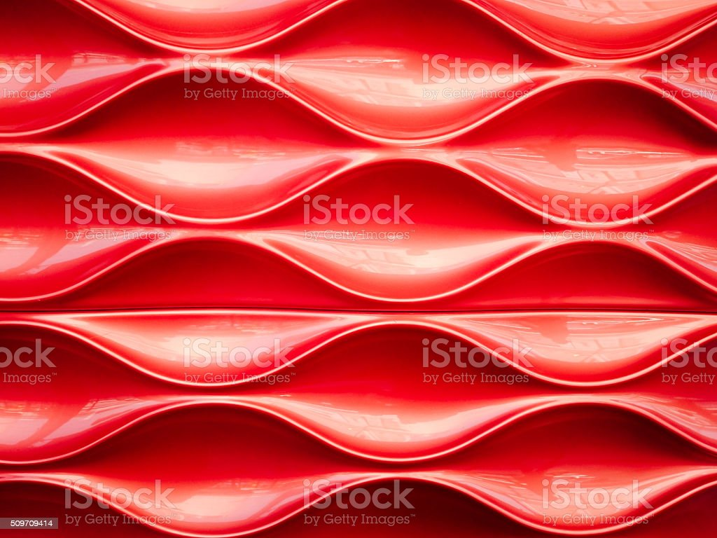 Red plastic texture and background stock photo