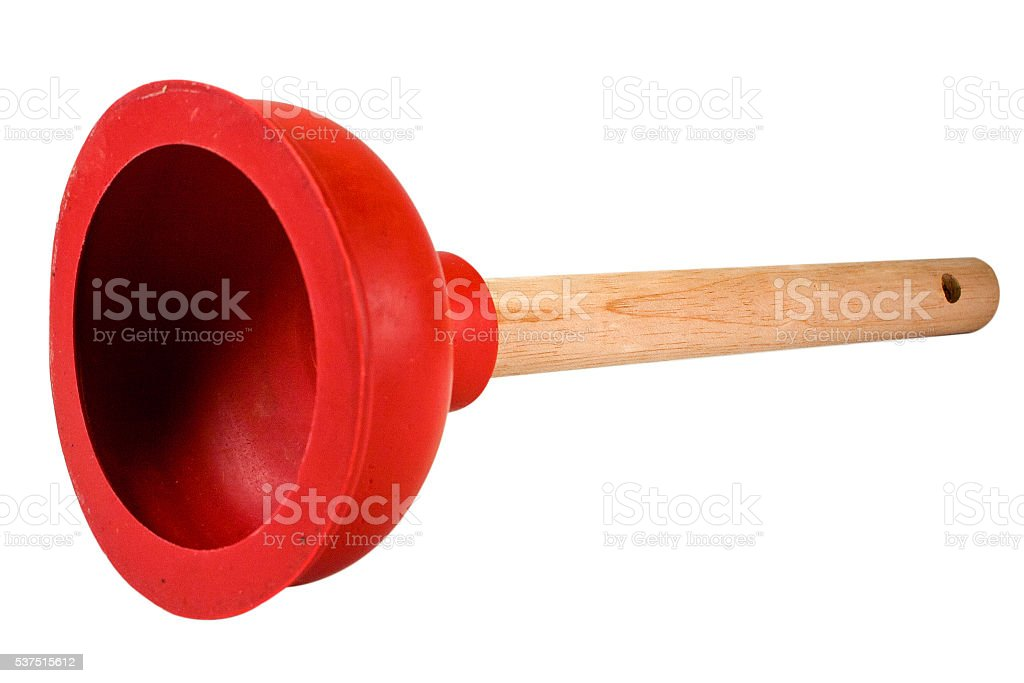 Red Plunger Inside stock photo