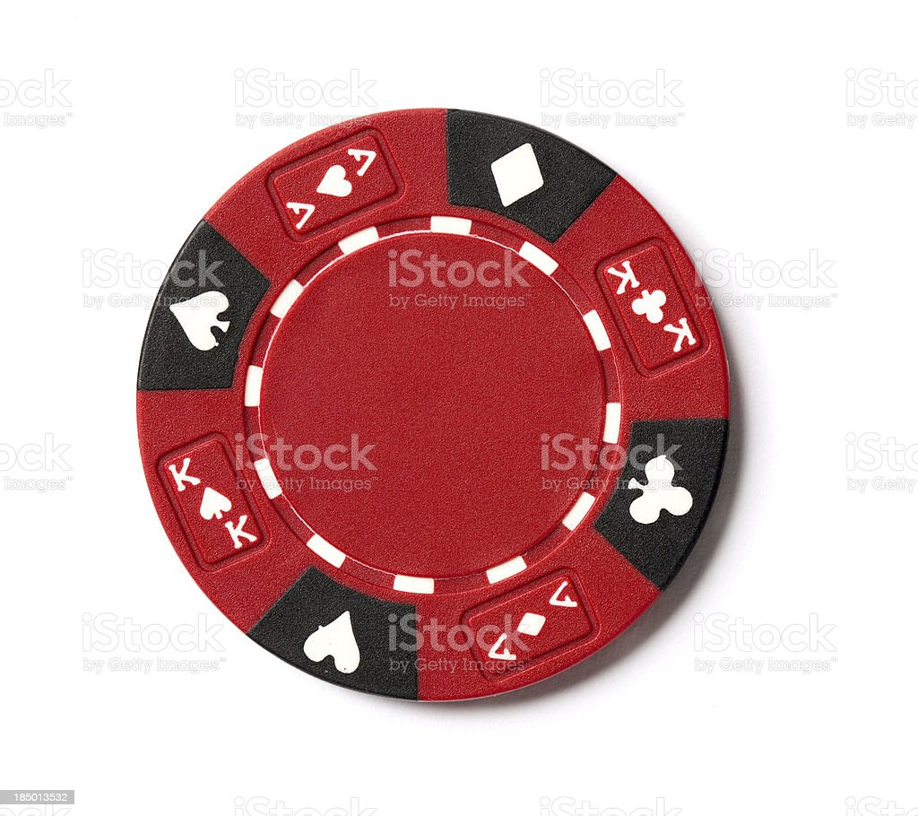 Red Poker Chip stock photo