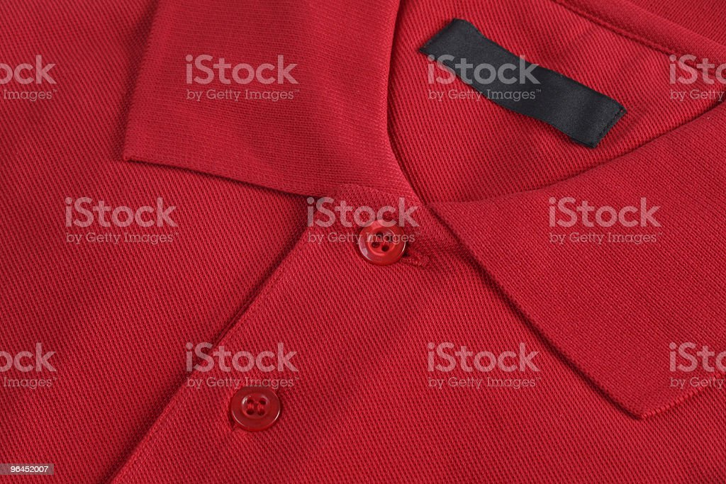 Red Polo Shirt with blank label royalty-free stock photo