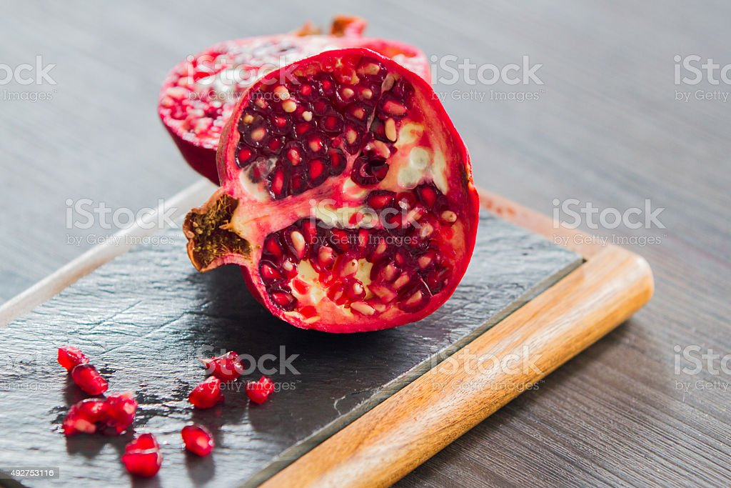 Red pomegranate fruits royalty-free stock photo