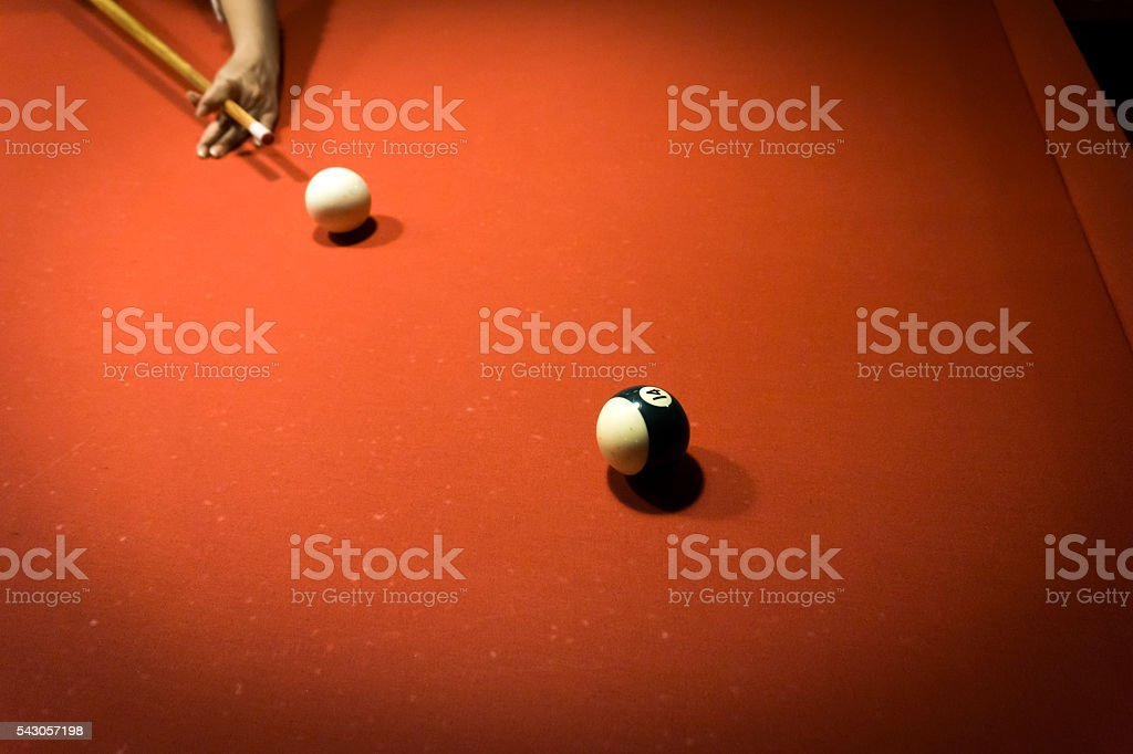Red Pool Table stock photo