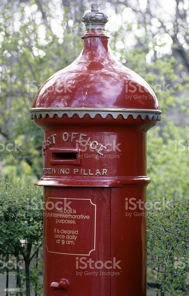 red post office royalty-free stock photo