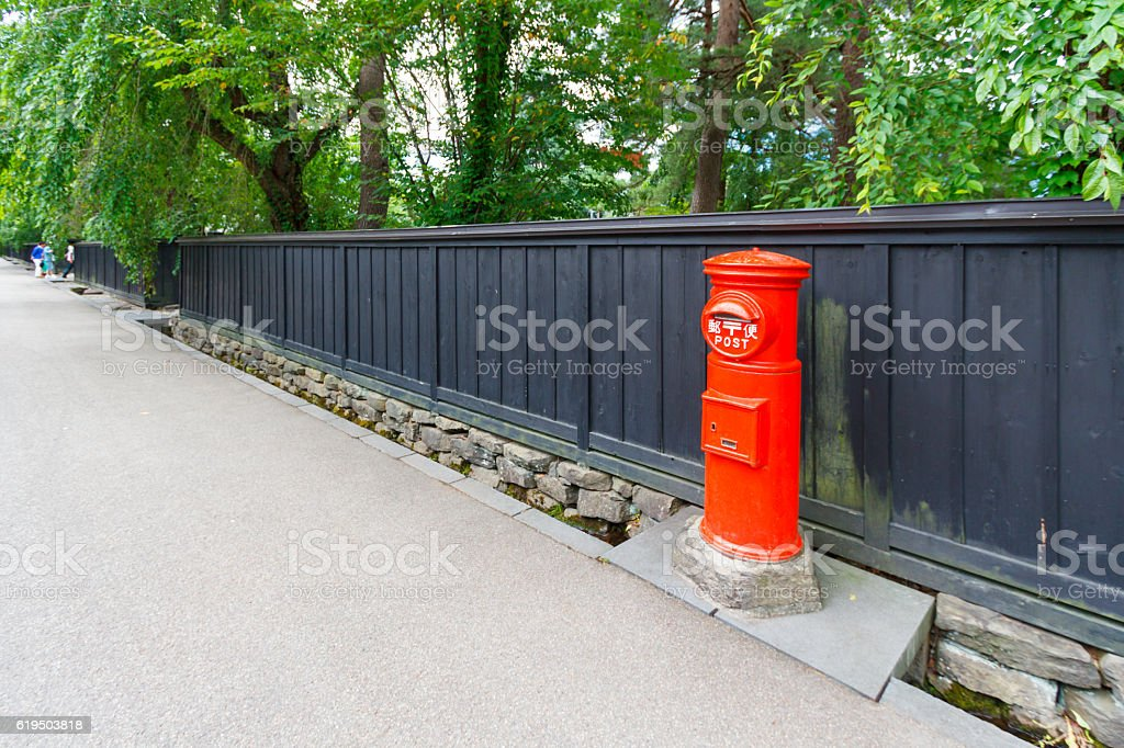 red post stock photo