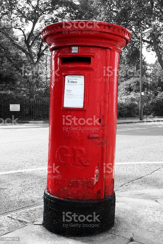 Red PostBox - London stock photo
