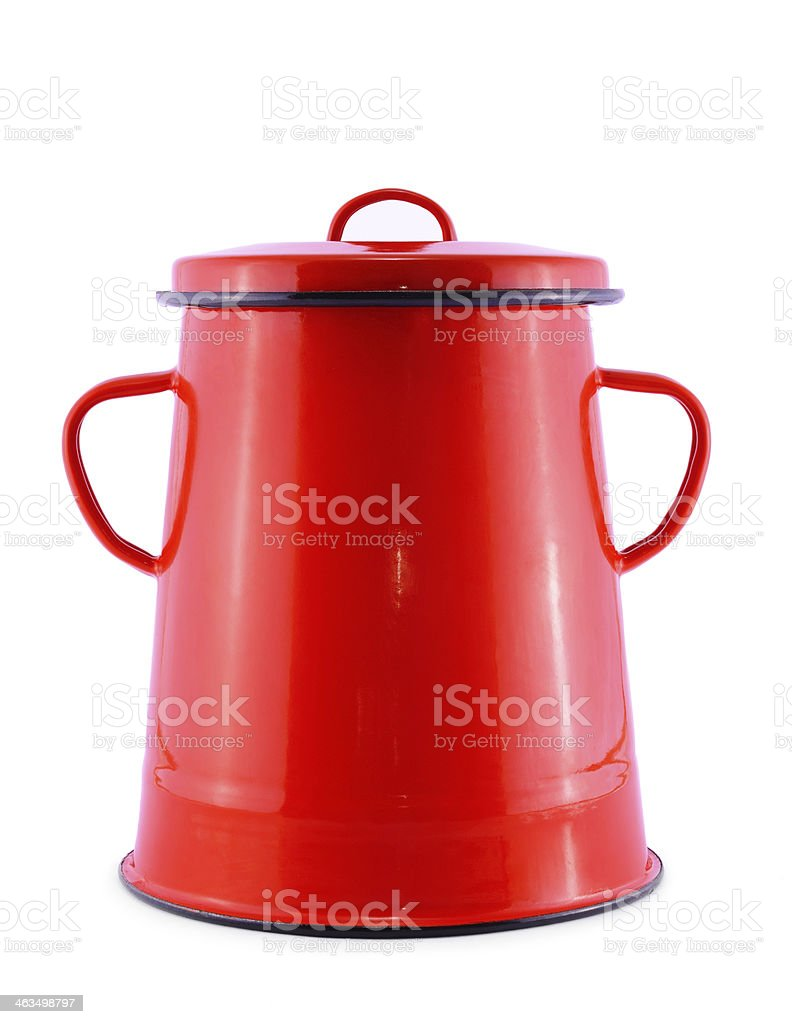 Red pot isolated on white royalty-free stock photo