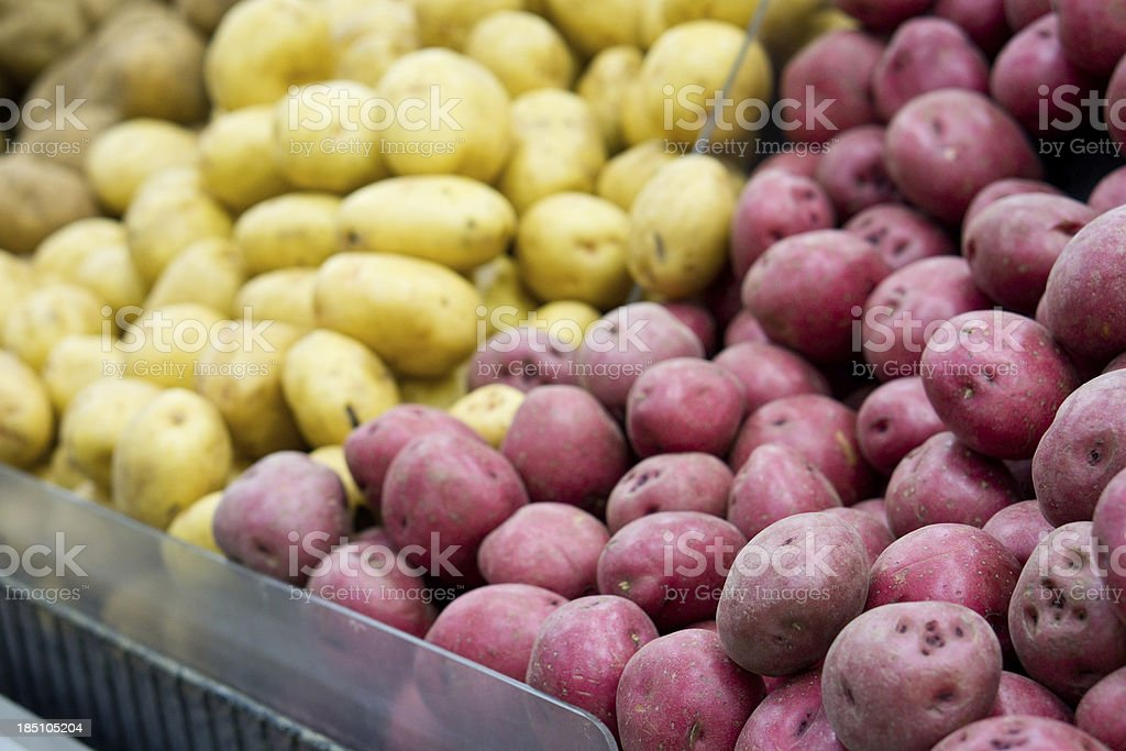 Red Potatoes At Grocery Store royalty-free stock photo