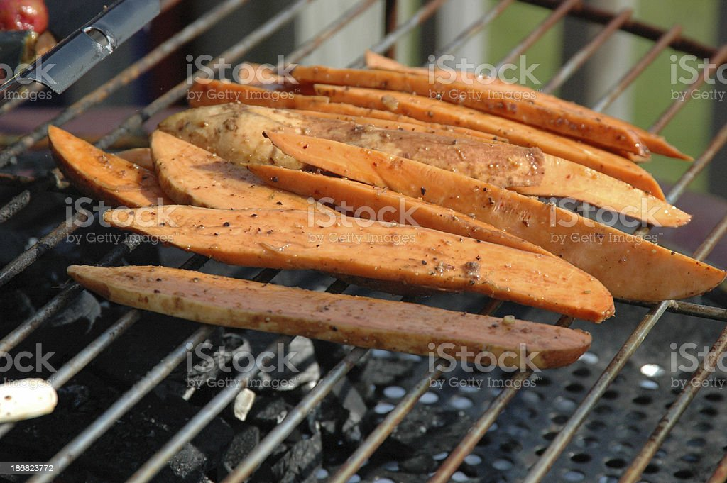 Red Potatoes Grilling royalty-free stock photo