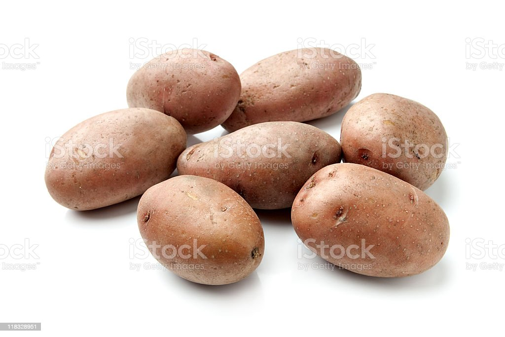 Red Potatoes Isolated on White royalty-free stock photo
