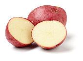 Red Potatos, sliced