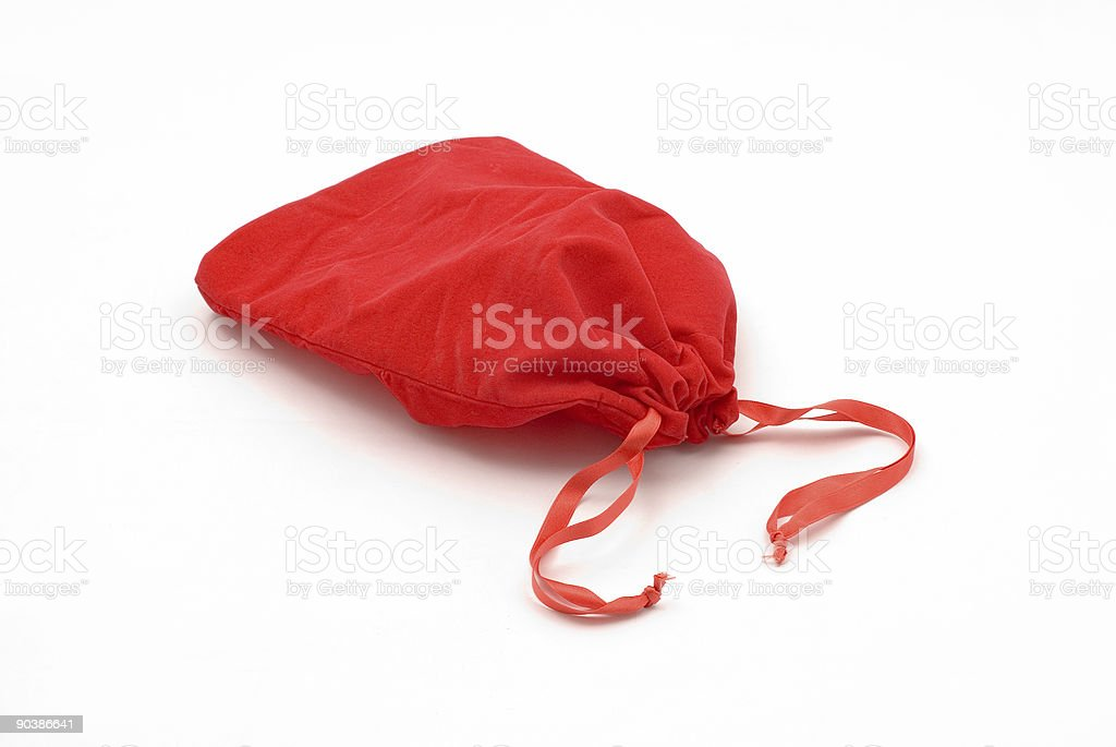 Red pouch royalty-free stock photo