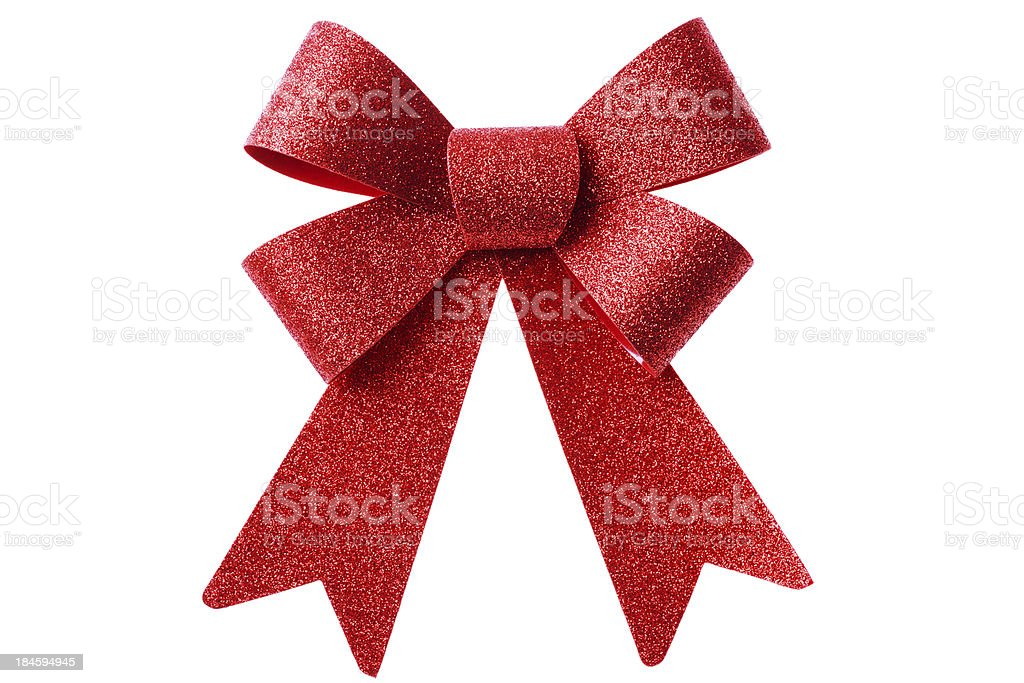 Red Present Bow royalty-free stock photo