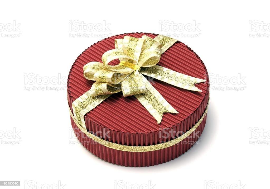 Rot Geschenk box Lizenzfreies stock-foto