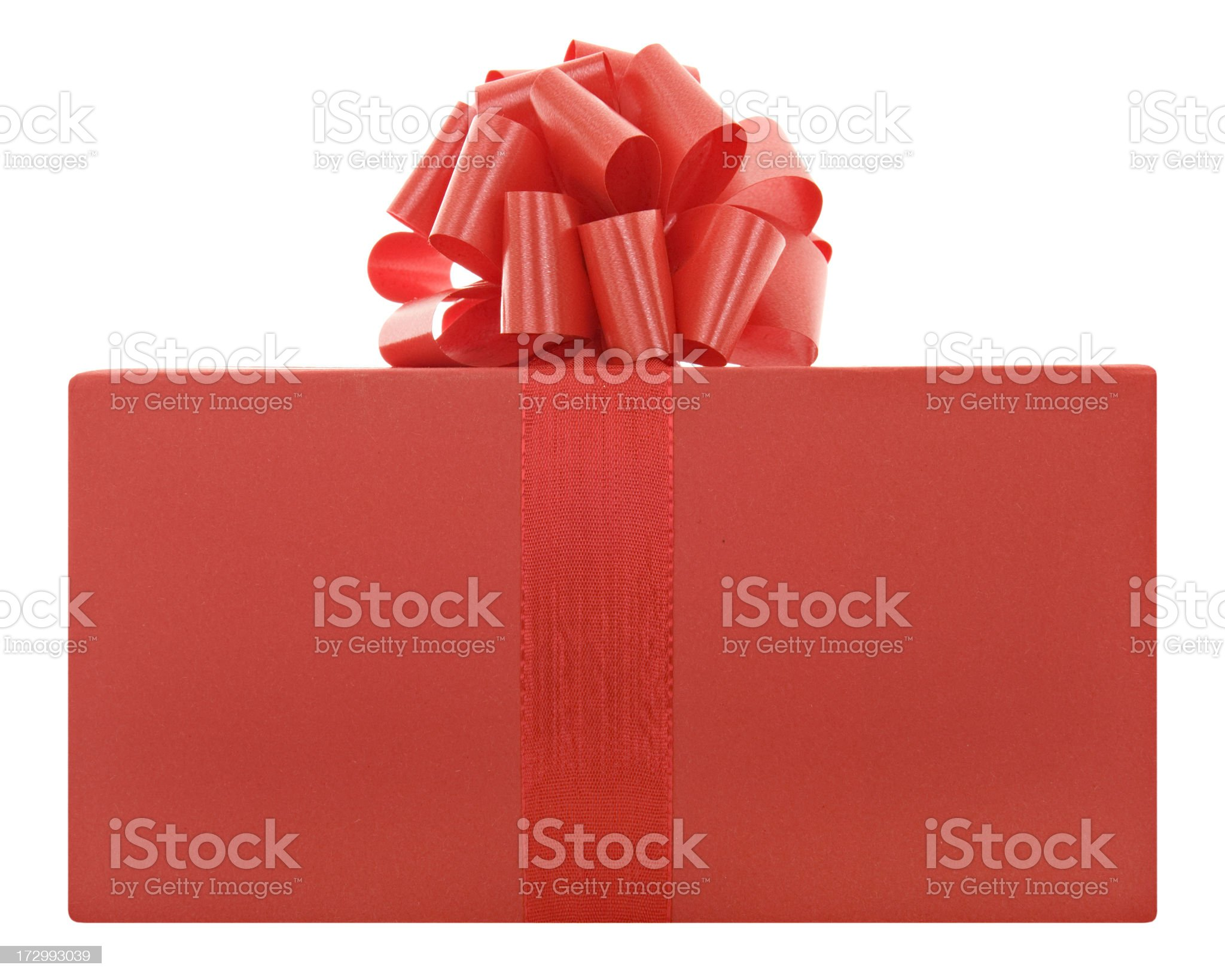 Red present with a bow royalty-free stock photo