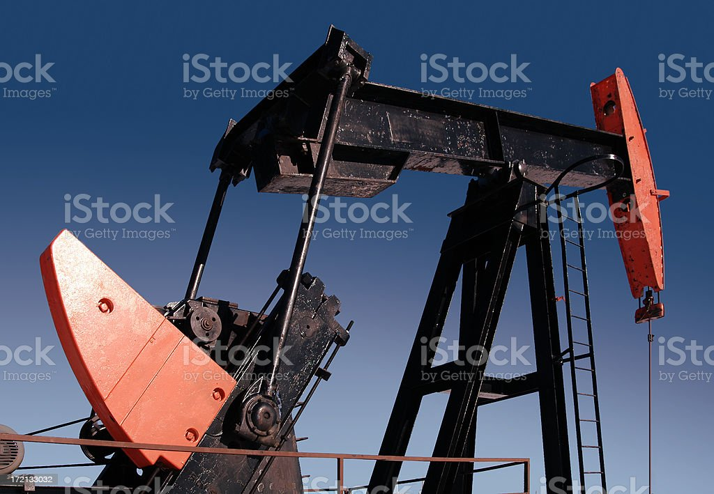 Red Pumpjack C royalty-free stock photo