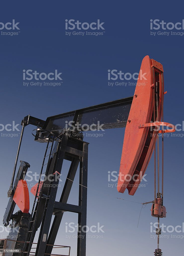 Red Pumpjack D royalty-free stock photo
