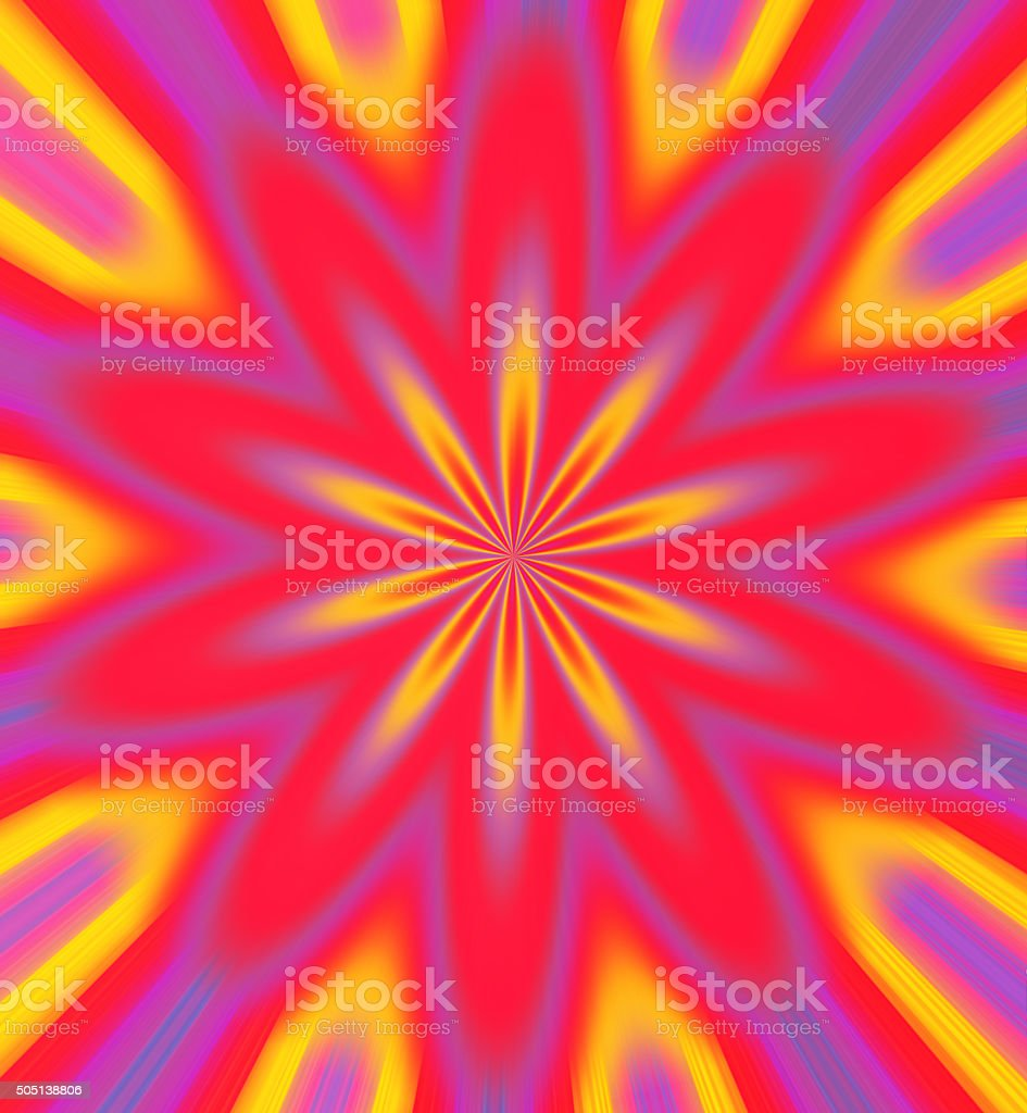 Red, Purple and Yellow Floral Shape Background stock photo